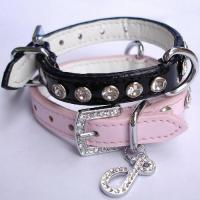 Quality PU Dog Collar with Jewels(CLH 2014) for sale