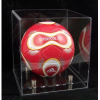 Quality Acrylic Showcases Sport Wears Display-Football-display-case-clear for sale