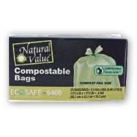 Quality Trash Bags Natural Value Compostable Trash Bags for sale