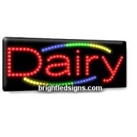 Quality Dairy Business LED Sign for sale