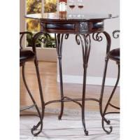 Buy cheap Rossette Round Pub Table in Rich Wood Patina - Homelegance from wholesalers