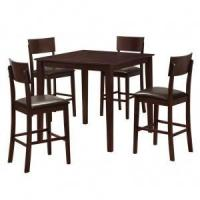 Buy cheap 5 PC Stanley Wood Pub Table Set in Espresso - Walker Edison from wholesalers