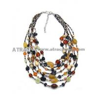 Quality 2011 2012 multilever mixed color beaded necklace(3mm-5mm) for sale