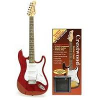 China Crestwood Complete Electric Guitar Package - Transparent Red on sale
