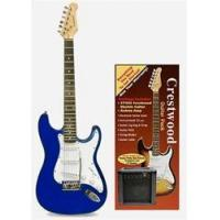 China Crestwood Complete Electric Guitar Package - Blue on sale