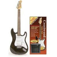China Crestwood Complete Electric Guitar Package - Black on sale