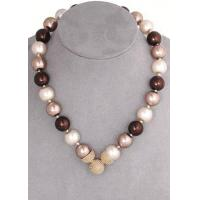 Buy cheap Brown Mix 10mm Caviar Magnetic Attractions Pearl Necklace from Wholesalers