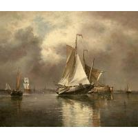 Quality Sailing Boats-Oil Paintings on Canvas #1153 for sale