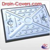Quality 600 x 450mm, Double Seal, Pressed Steel Cover for sale