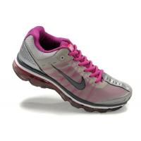 Quality Nike Air Max Womens 2009 Shoes - Grey/Purple/Black Sole for sale