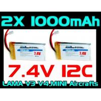 Buy cheap 2X RC Lab 1000mah 7.4v from wholesalers