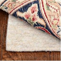 8x10 Deluxe 1/4 Inch Thick 100% Felt Jute Area Rug Pad for Hard Floors