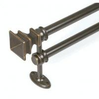 China Renovations Arts and Crafe Double Curtain Rod, Bronze, by Kenney Manufacturing on sale