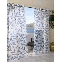 China Escape Outdoor Curtains Sheer Leaf Print with Grommets on sale