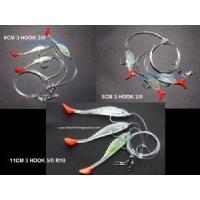 Quality Holographic Wobble Tail Fish/Shad rigs 3 x 6/0 Hooks for sale