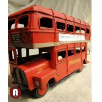 Quality Vehicle Toys Iron Made Classical Retro Red Double Decker London Street Bus for sale