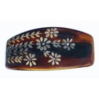 Buy cheap Engraved Barrette Tortoise Shell With Stone 111 from wholesalers