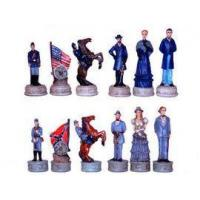 Quality Chess Pieces CHE037-pcs - Civil War Union Confederate Chess Pieces for sale
