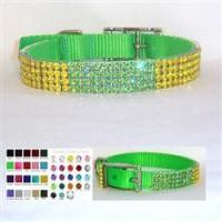 Quality The Block Party 3/4 inch wide Crystal Dog Collar for sale