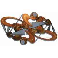 Quality Caramel Crush Wooden Wall Sculpture with Mirrors for sale