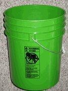 Quality 5 Gallon Plastic Buckets Lime Green for sale