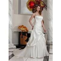 China Exquisite One Shoulder Wedding Gown Ruffle Bride on sale