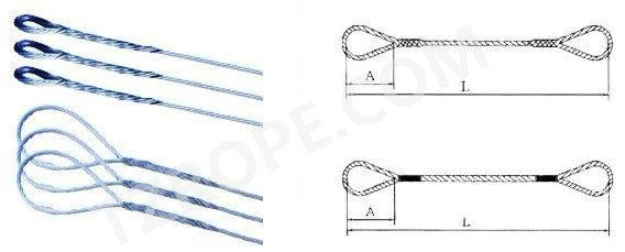 Buy Wire rope rigging ProductCode inserted wire rope rigging at wholesale prices
