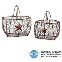 China Decorative wire baskets on sale