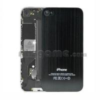 Buy cheap Replacement Metal Back Cover For iPhone 4 - Black + Toolkit from wholesalers