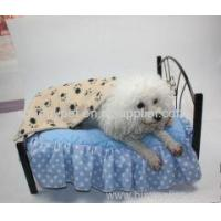 Quality Cute Pet Dog Blanket Paw Prints Soft Pet Mat Bed for sale