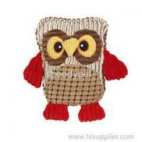 Quality Dog plush toy owl shape pet squeak toy for sale