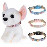 Quality Chiwava Colorful Bling Rhinestone Luxury Dog Collar for sale
