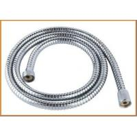Quality Brass chromeplated double lock shower hose with knurl nuts for sale