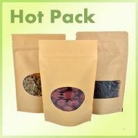 Buy cheap Stand up kraft paper pouch with window from wholesalers