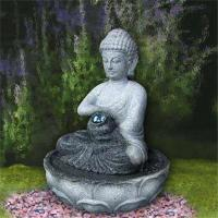 Quality Natural stone buddha carved mini fountain for decoration for sale