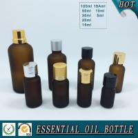 Quality Acid Etch Frosted amber glass essential oil bottle for sale