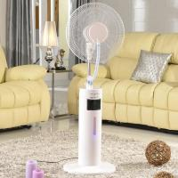 Quality 16 Inches Stand Plastic Electric Cooling Water Misting Fan Humidifier w/Remote Control for sale