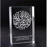 Quality 3D Laser Engraving Cube Shaped Crystal Religious Award for sale