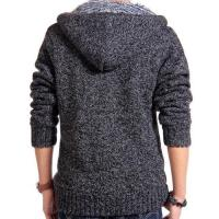 Quality Men heavy winter zip hooded cardigans mens sweaters for sale