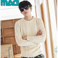 Quality Men men cotton sweater cable pullover for sale