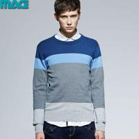 Quality Men men pullover striped knitted sweater for sale