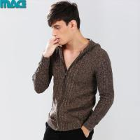 Quality Men men fashion zip cardigan hooded sweater for sale