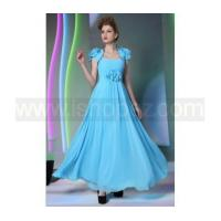 Quality New Prom Dress/Quinceanera Dress - Spaghetti Straps Drape Flowers Blue Dress With Jacket for sale