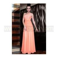 Quality One shoulder jacinth embroidered long bridesmaid dress for sale