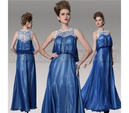 Buy Dark Blue A-Line Plus Size Mother Of Bride Dress, Floor Length Evening dress at wholesale prices