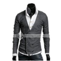 Quality POPHOMME Korea Double Breasted Wool Sweaters for sale