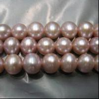 Quality purple round pearls loose strand wholesale AA 7-8mm 16 inches for sale