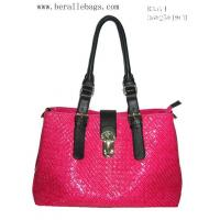 Quality Square Designs Handbag, Plum Color of PU Bag B3574 for sale