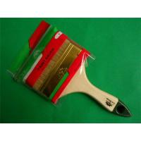 Quality Indonesia Style Wooden Handle Boiled White Bristle Paint Brush for sale