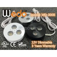 Quality WD-300A 12V 3W LED Cabinet Light / LED Puck Light with CE cUL UL Certified for sale